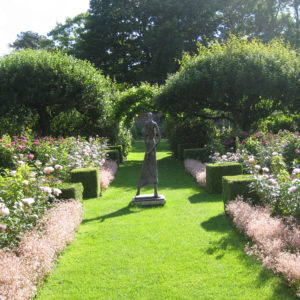 PASHLEY MANOR GARDENS Rose Garden And Helen SInclair Sculpture By Kate Wilson