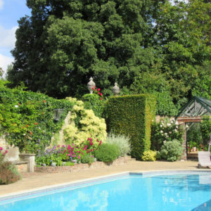 Pashley Manor Gardens Swimming Pool In Summer By Kate Wilson